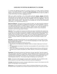 American Resume Style American Resume Format Best Resume And Cv