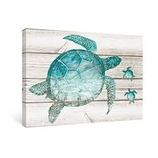 sumgar wall art for bathroom green sea turtle wall decor vintage paintings on canvas framed prints on lovely sea turtle wall art with amazon sumgar wall art for bathroom green sea turtle wall decor