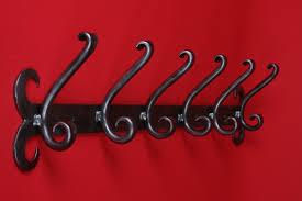 6 Hook Coat Rack Quality Wrought Iron Coat Hooks single triple or six 38