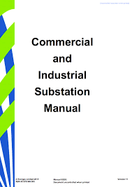 Design And Construction Manual Commercial And Industrial Substation Manual Design And
