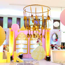 flatware chandelier from a beauty and the beast birthday party on kara s party ideas karaspartyideas
