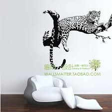 leopard spots wall stickers decoration