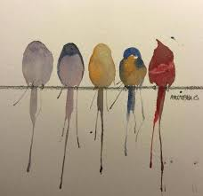 birds on a wire painting beautiful watercolor paintings by art ca vintage metal abstract