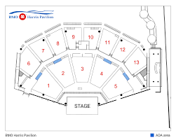 Bmo Harris Pavilion Seating Map Bmo Harris Pavilion