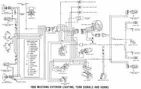 exterior light turn signals and horns wiring diagrams of  exterior light turn signals and horns wiring diagrams of 1966 ford mustang