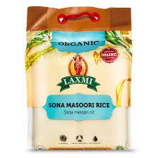 Laxmi Organic Sona Masoori Rice, All Nat- Buy Online in Hong Kong at  Desertcart