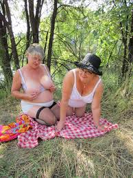Two grandmas in the woods from Ukrainamen