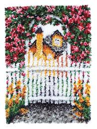 garden gate latch hook rug kit tap to expand