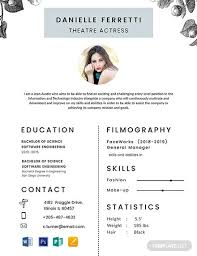 Acting Resume Template Download Free Acting Resume Template Word Word Resume Template 11