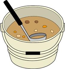 イラストポップ 学校のイラスト | 給食No12食缶とその中のおかずの無料素材