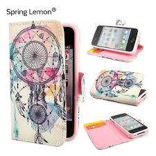 Dream Catcher Case Iphone 7 Plus Spring Lemon Dream Catcher Hot air Balloon Macarons Mandala Wallet 98