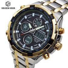 online get cheap digital analog watch men aliexpress com luxury brand analog digital watches men led full steel male clock men military wristwatch quartz sports