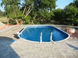 square above ground pool. On Ground Pool Buried All The Way Surrounded With Square Mosaic Interlock Above U