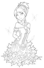 Anime Coloring Pages Printable Cute Anime Coloring Pages To Print At