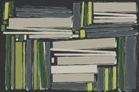 contemporary wallpaper  vinyl  bookshelf