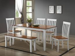 com boraam 22034 bloomington 6 piece dining room set white honey oak table chair sets