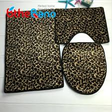 animal print bath rug 3 pieces set leopard printed bath mats set non slip bathroom carpet animal print bath rug
