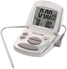 taylor precision s digital cooking thermometer with probe and timer