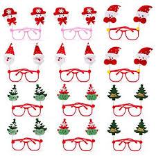 Christmas Photo Frames For Kids 12pcs Christmas Party Glasses Snowman Eyeglasses Santa Claus Glasses Christmas Tree Eye