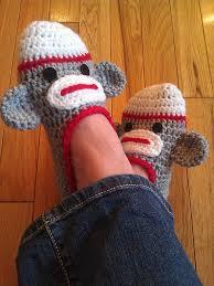 patterns jo anne wilkes baker las sock monkey slippers