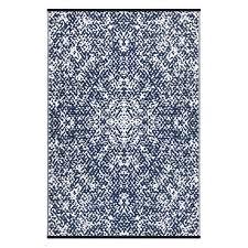 rio dark blue white lightweight indoor outdoor reversible plastic rug