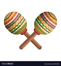 Icon maraca mexico music graphic Royalty Free Vector Image