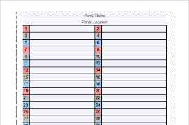 21 Panel Schedule Template Free Download