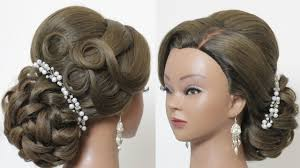 Wedding Hair Style Up Do indian hairstyle for long hair tutorial bridal wedding updo youtube 5098 by wearticles.com