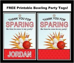 Free Bowling Party Printable Tags Bowling Party Bowling