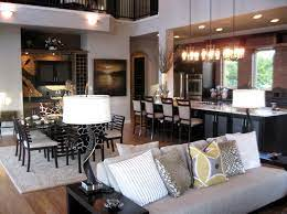 open living room and kitchen decorating