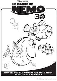 Coloriage Nemo 3d Nemo Marin Et Dory