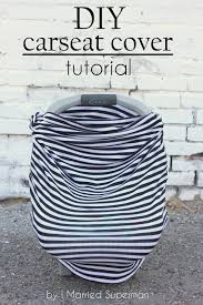 stretchy car seat cover tutorial