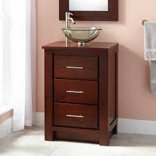 Stupendous Tall Narrow Bathroom Vanities From Dark Brown Wood