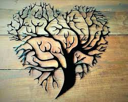 wooden tree wall art of life metal large wood