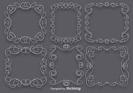 vector set of scrollwork art frames