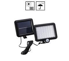 <b>100 LED Solar</b> Powered <b>PIR</b> Motion Sensor Wall Light <b>Outdoor</b> Path ...