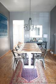 old door turned into a dining table