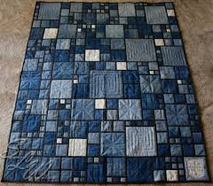 Mom's Stained Glass Denim Quilt | Quilts | Pinterest | Glass ... & Mom's Stained Glass Denim Quilt Adamdwight.com