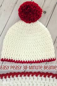 Crochet Beret Pattern Inspiration Easy Peasy 48Minute Beanie Free Crochet Pattern