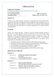 Cv For Pharmaceutical Industry Filename Heegan Times