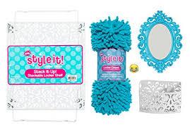 luxe school locker organizer kit accessories and decoration set with shelf rug mirror and bin aqua