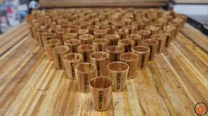 evolution from turning blank to finished shot glass you couldn t achieve that finished look with just a log plus with the glue up process i did each one