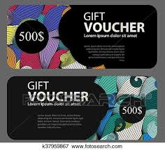 Gift Certificates For Your Business Clip Art Of Gift Voucher Template For Your Business Vector