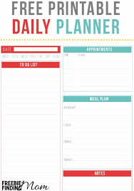 free daily planner printables free printable daily planner