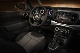 fiat 500l lounge interior. the 2016 fiat 500l is a fourdoor compact wagon sold in five trim levels pop easy trekking urbana and lounge 500l interior