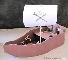 diy pirate ship with pirates and treasure