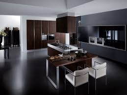 kitchen tile flooring dark cabinets. Excellent Italian Kitchen Designs With Dark Wood Cabinet Island Also Two White Dining Chair On The Tile Flooring Cabinets I