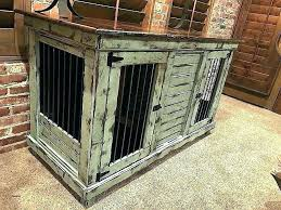 dog kennel end tables dog kennel furniture crates wooden crate end table awesome wood double f dog kennel