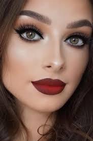 description y smokey eye makeup ideas red dress makeup
