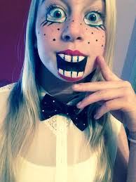 fancy dress costume party makeup ventriloquist s dummy doll face paint